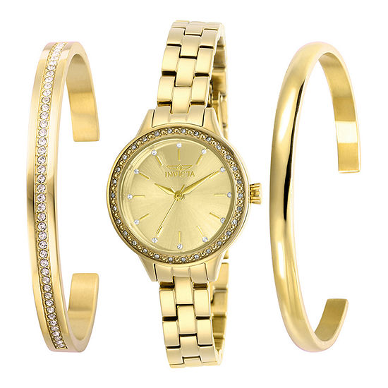 Invicta Angel Womens Gold Tone Stainless Steel Bracelet Watch-29310