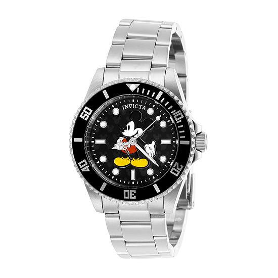 Invicta Disney Womens Silver Tone Stainless Steel Bracelet Watch-29672