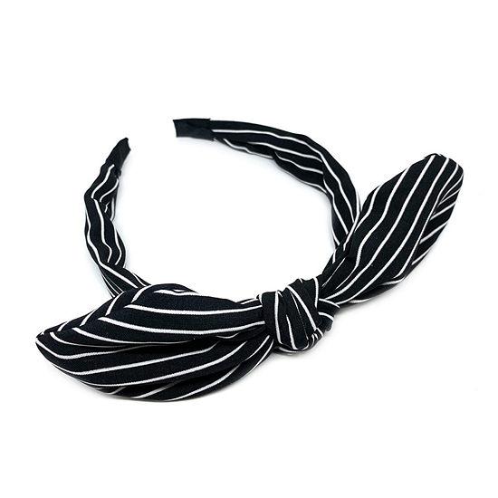Mixit Black Striped Bow Headband