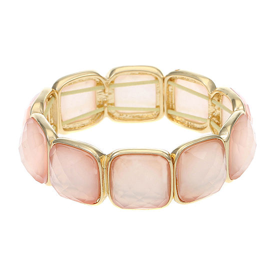 Monet Jewelry Pink Stretch Bracelet
