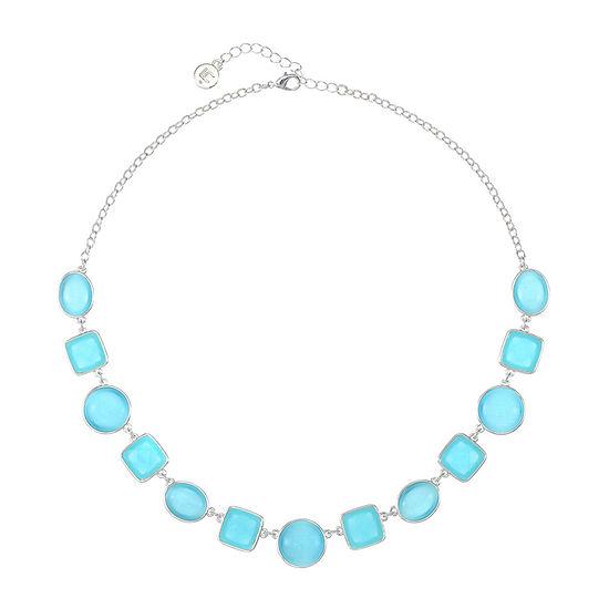 Liz Claiborne Blue 18 Inch Cable Collar Necklace
