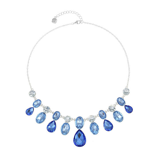 Monet Jewelry Blue 18 Inch Cable Statement Necklace