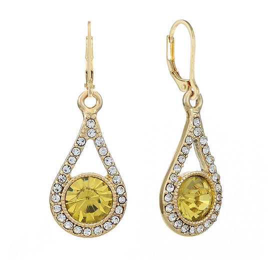 Monet Jewelry 1 Pair Yellow Round Drop Earrings
