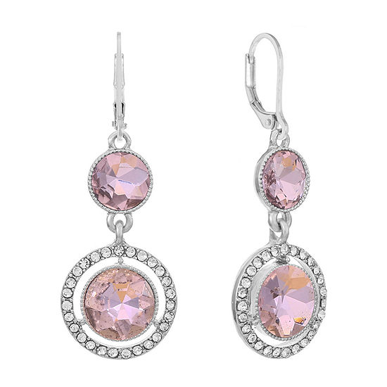 Monet Jewelry 1 Pair Pink Round Drop Earrings