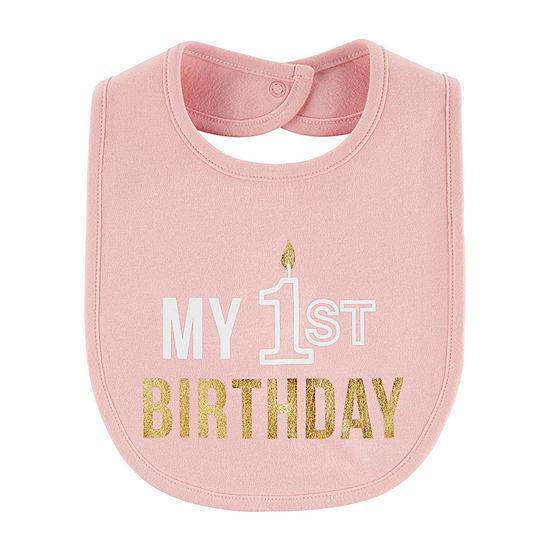 Carter's First Birthday Girls Bib