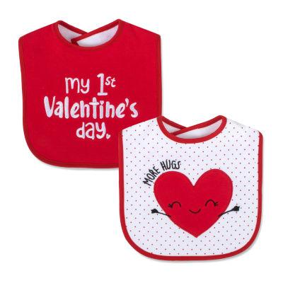 Okie Dokie Valentines Unisex 2-pc. Bib