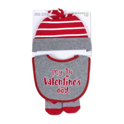 Okie Dokie Valentines Unisex 3-pc. Bib
