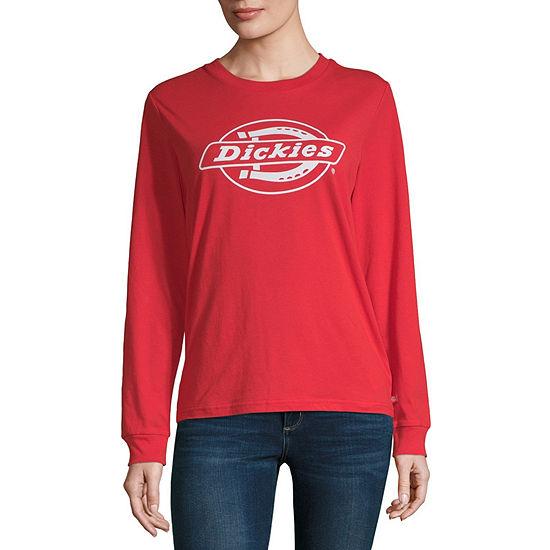 Dickies Womens Crew Neck Long Sleeve T-Shirt - Juniors