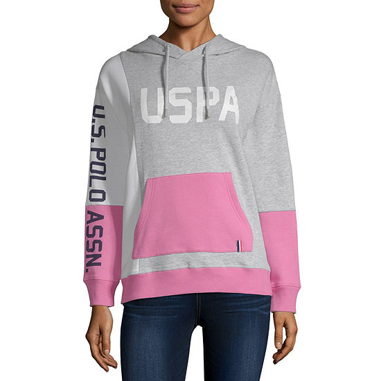 Us Polo Assn.-Juniors Womens Long Sleeve Fleece Hoodie