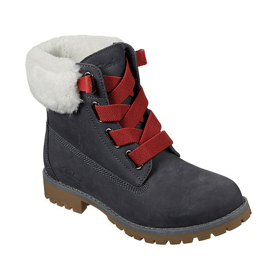 Skechers Womens Winter Flat Heel Boots