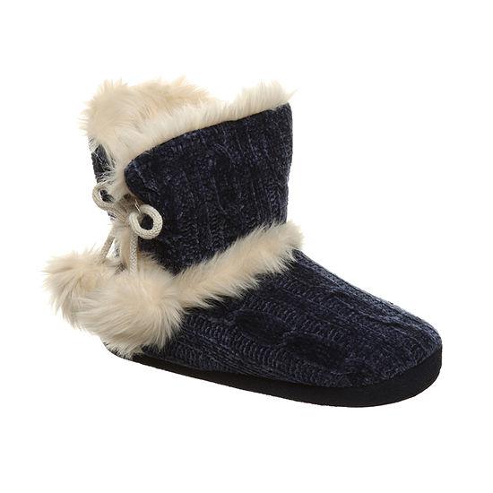 Bearpaw Indoor Womens Bootie Slippers