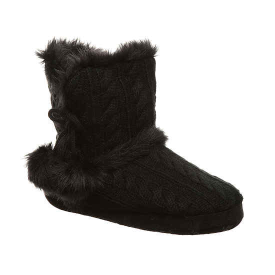 Bearpaw Indoor Womens Bootie Slippers
