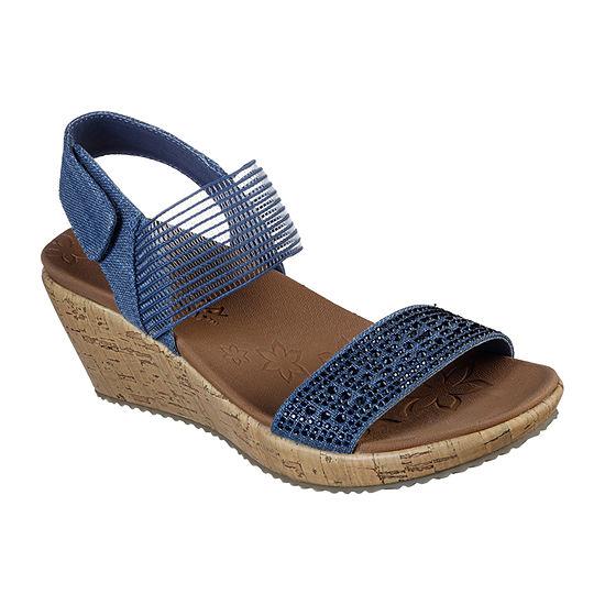 Skechers Womens Beverlee - Pretty Chic Wedge Sandals