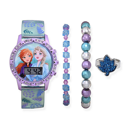 Disney Frozen Girls Blue 4-pc. Watch Boxed Set-Fzn45068jc