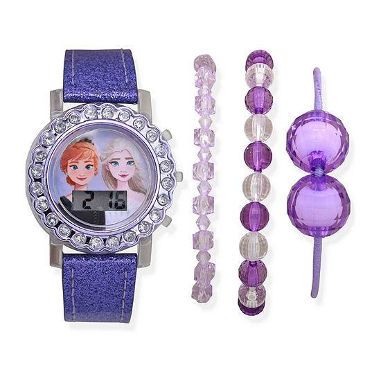 Disney Frozen Girls Blue 4-pc. Watch Boxed Set-Fzn45069jc