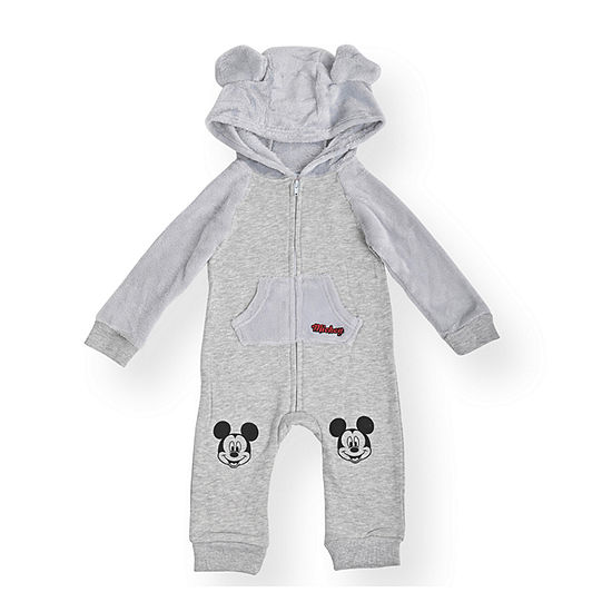 Disney Mickey Mouse Baby Boys Long Sleeve Jumpsuit
