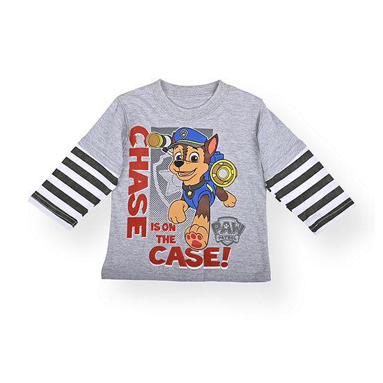 Nickelodeon Baby Boys Crew Neck Paw Patrol Long Sleeve Graphic T-Shirt