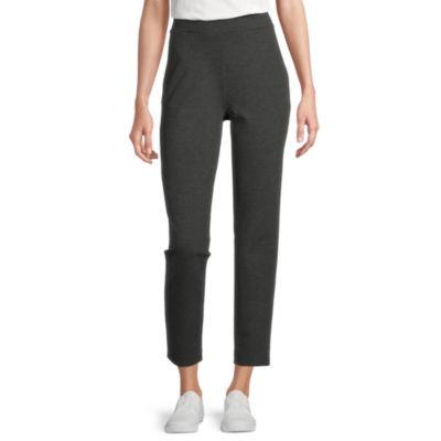 Stylus Womens Mid Rise Straight Pull-On Pants