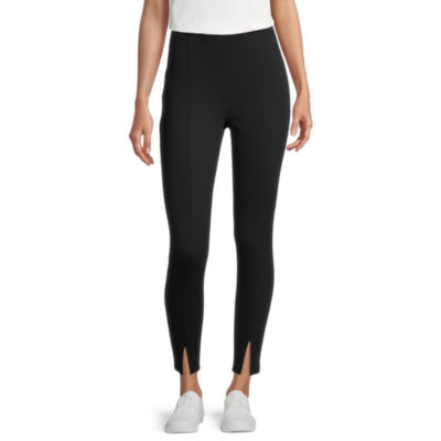 Stylus Womens High Rise Ankle Pull-On Pants