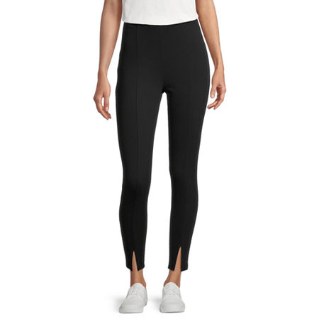 Stylus Womens High Rise Ankle Pull-On Pants, X-large , Black