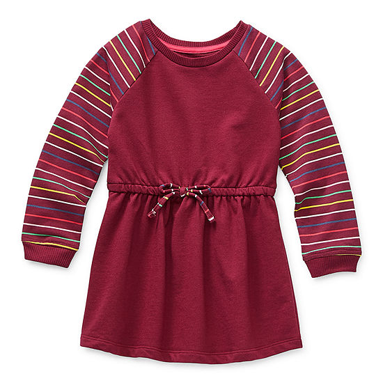 Okie Dokie Little Girls Long Sleeve Swing Dresses