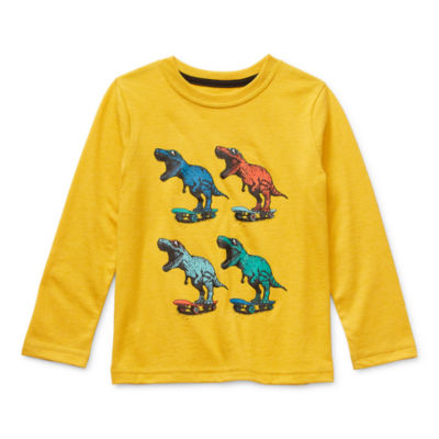 Okie Dokie Little Boys Crew Neck Long Sleeve Graphic T-Shirt