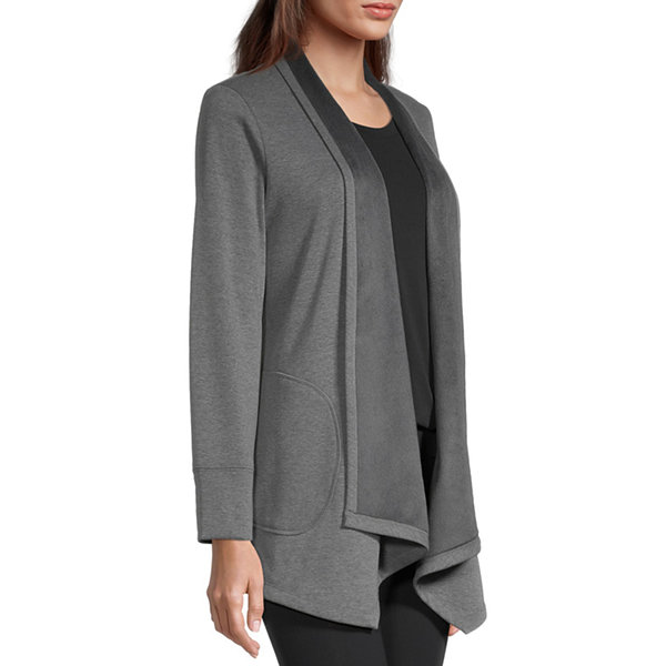 Stylus Cascade Womens Long Sleeve Open Front Cardigan