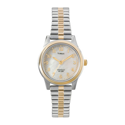 Timex® Womens Mother-of-Pearl Expansion Watch
