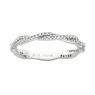 Personally Stackable 1/4 CT. T.W. Diamond Twist Ring