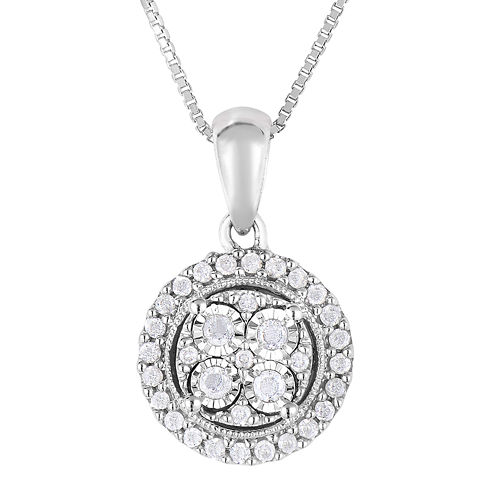 TruMiracle® 1/4 CT. T.W. Diamond Sterling Silver Round Pendant Necklace