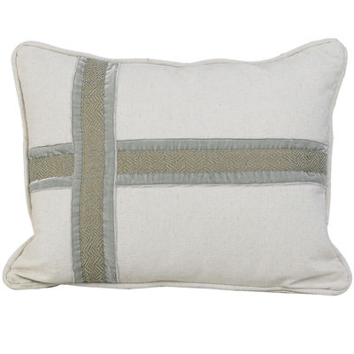 HiEnd Accents Arlington Cross Design Decorative Pillow