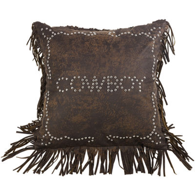 HiEnd Accents Calhoun Cowboy Square Decorative Pillow