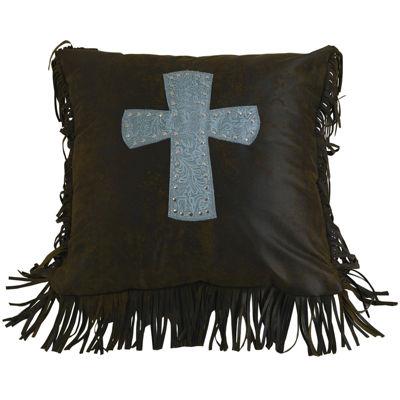 HiEnd Accents Cheyenne Cross Square Decorative Pillow