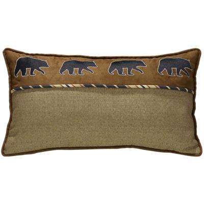 HiEnd Accents Ashbury Bear Oblong Square Decorative Pillow