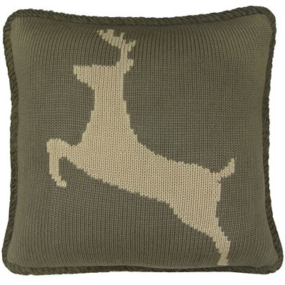 HiEnd Accents Wilderness Ridge Deer Decorative Pillow