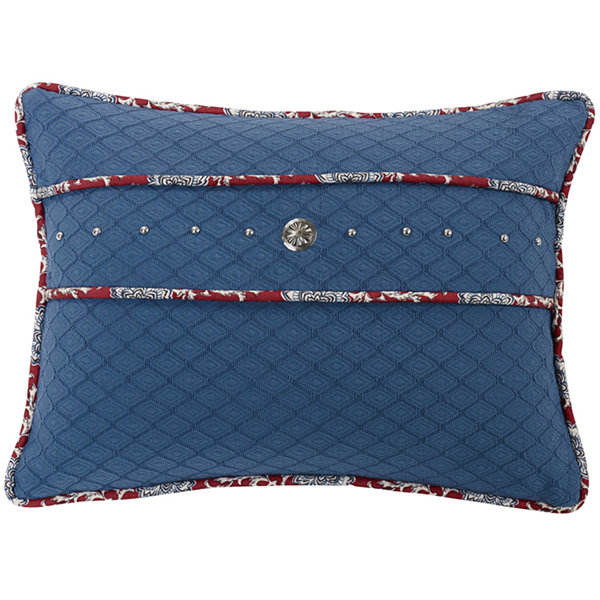 HiEnd Accents Bandera Blue Oblong Decorative Pillow
