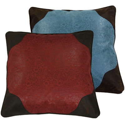 HiEnd Accents Cheyenne Faux-Leather Euro Sham