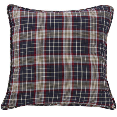 HiEnd Accents South Haven Reversible Plaid Euro Sham