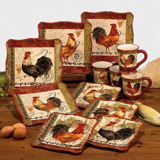 Tuscan Rooster Dinnerware Collection
