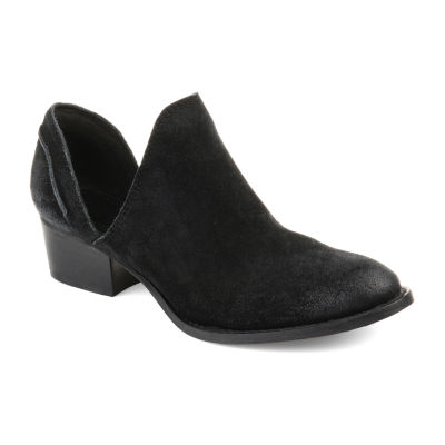 Journee Signature Womens Js Jonesy Booties Stacked Heel Slip-on