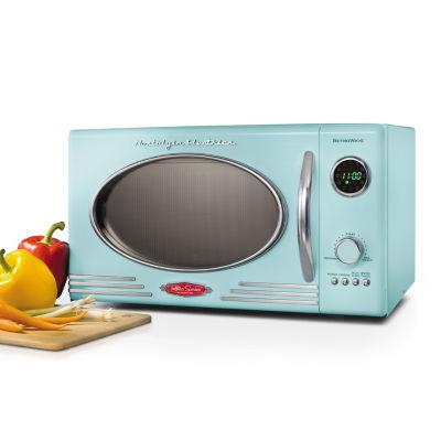 Nostalgia RMO4AQ Retro 0.9 Cubic Foot Microwave Oven