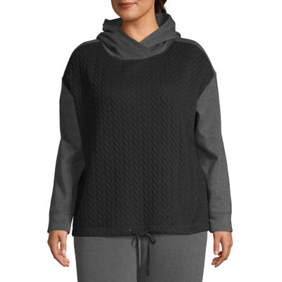 St. John's Bay Active Quilted Texture Hoodie - Plus