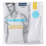 Stafford 4 Pack Dry+Cool A-Shirts - Big and Tall