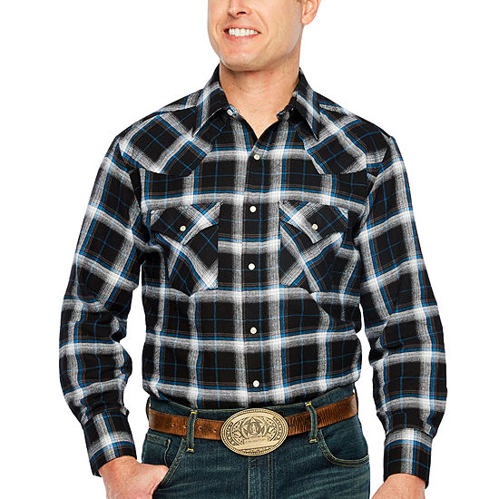 Ely Cattleman Snap Flannel Shirt Big Tall