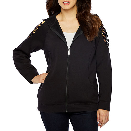 Bold Elements Womens Long Sleeve French Terry Hoodie