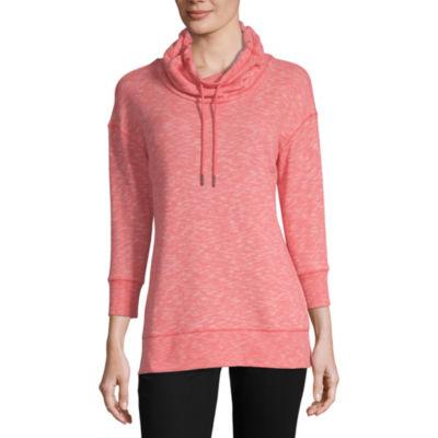 Liz Claiborne Weekend Womens Cowl Neck 3/4 Sleeve Sweatshirt
