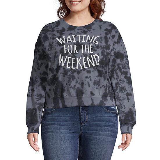 """Waiting for the Weekend"""" Sweatshirt - Juniors Plus"""