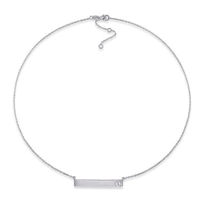 Womens Genuine White Sapphire Sterling Silver Pendant Necklace