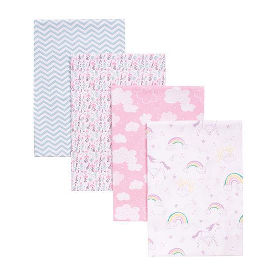 Trend Lab Unicorn Rainbow 4-Pk. Blankets 4-pc. Blanket - Girls