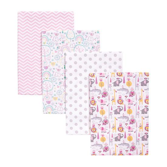 Trend Lab Pink Safari 4-Pk. Blankets 4-pc. Blanket - Girls